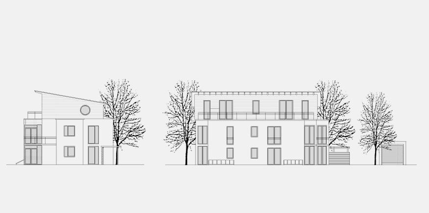 Mehrfamilienhaus – Aronstabstrasse München_Ansichten